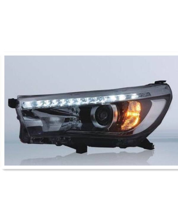 modified and OEM 2016 Toyota Hilux Revo headlamp and taillamp
