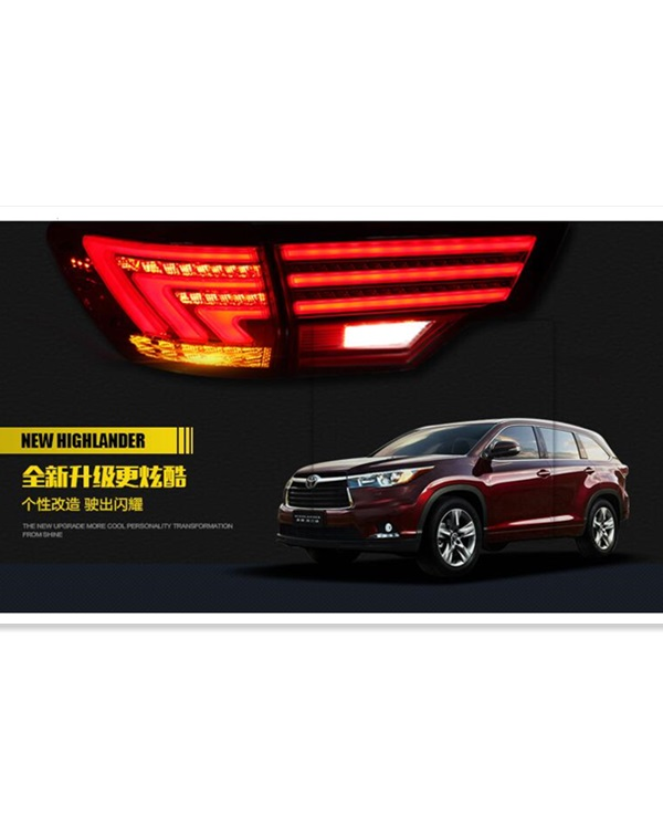 2015 Toyota highlander taillamp in benz style